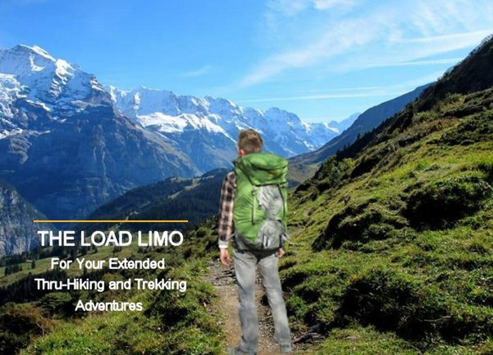 Male hiker wearing Aarn Load Limo pack