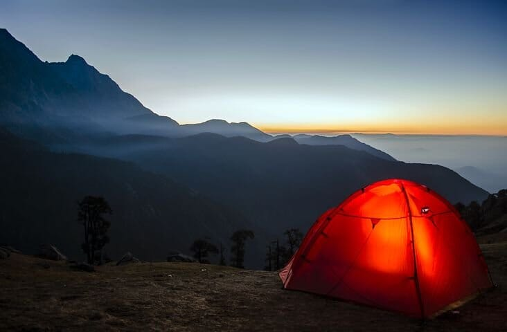 Setting Camp After a Long Hike