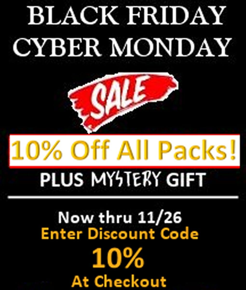 Black Friday - Cyber Monday Sale!